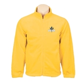 Fleece Full Zip Gold Jacket-UCSD w/Trident