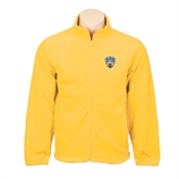 Fleece Full Zip Gold Jacket-UC San Diego Crest