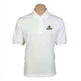 White Dry Mesh Polo-UCSD w/Trident