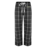 Black/Grey Flannel Pajama Pant-UC San Diego Primary Mark