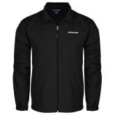 Full Zip Black Wind Jacket-UC San Diego Primary Mark