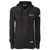 Ladies Under Armour Black Varsity Full Zip Hoodie-UC San Diego Wordmark