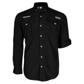Columbia Bahama II Black Long Sleeve Shirt-UC San Diego Primary Mark
