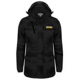 Ladies Black Brushstroke Print Insulated Jacket-UC San Diego Tritons Mark