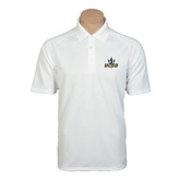 White Textured Saddle Shoulder Polo-UCSD w/Trident