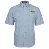 Light Blue Short Sleeve Performance Fishing Shirt-UC San Diego Tritons Mark