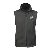 Fleece Full Zip Charcoal Vest-UC San Diego Crest