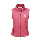 Ladies Fleece Full Zip Raspberry Vest-Official Logo