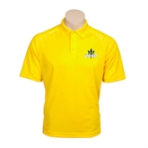 Gold Textured Saddle Shoulder Polo-UCSD w/Trident