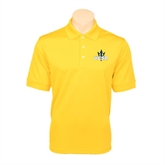 Gold Dry Mesh Polo-UCSD w/Trident