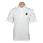 White Mini Stripe Polo-UCSD w/Trident