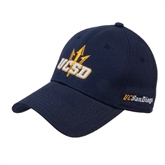 Navy Heavyweight Twill Pro Style Hat-UCSD w/Trident