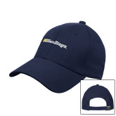 Navy Heavyweight Twill Pro Style Hat-UC San Diego Wordmark