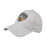 White Heavyweight Twill Pro Style Hat-UC San Diego Crest