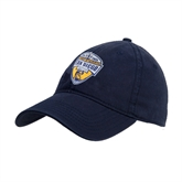 Navy Twill Unstructured Low Profile Hat-UC San Diego Crest