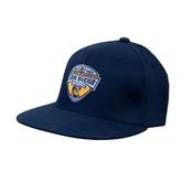 Navy OttoFlex Flat Bill Pro Style Hat-UC San Diego Crest