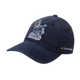 Navy OttoFlex Unstructured Low Profile Hat-Official Logo