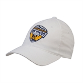 White OttoFlex Unstructured Low Profile Hat-UC San Diego Crest