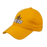 Gold Heavyweight Twill Pro Style Hat-UCSD w/Trident