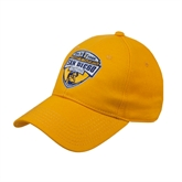 Gold Heavyweight Twill Pro Style Hat-UC San Diego Crest