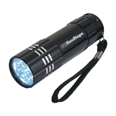 Industrial Triple LED Black Flashlight-UC San Diego Engraved