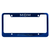 Mom Metal Blue License Plate Frame-UC San Diego Primary Mark Engraved
