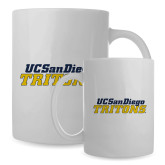 Full Color White Mug 15oz-UC San Diego Tritons Mark