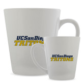 Full Color Latte Mug 12oz-UC San Diego Tritons Mark