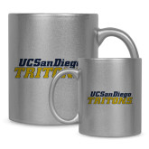 Full Color Silver Metallic Mug 11oz-UC San Diego Tritons Mark