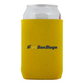 Neoprene Gold Can Holder-UC San Diego Primary Mark
