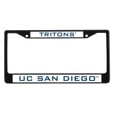 Metal License Plate Frame in Black-UC San Diego