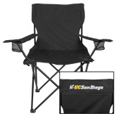 Deluxe Black Captains Chair-UC San Diego Primary Mark