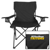 Deluxe Black Captains Chair-UC San Diego Tritons Mark