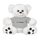 Plush Big Paw 8 1/2 inch White Bear w/Grey Shirt-UC San Diego Primary Mark