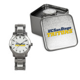 Ladies Stainless Steel Fashion Watch-UC San Diego Tritons Mark