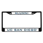 Alumni Metal License Plate Frame in Black-UC San Diego