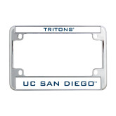 Metal Motorcycle License Plate Frame in Chrome-UC San Diego