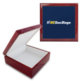 Red Mahogany Accessory Box With 6 x 6 Tile-UC San Diego Primary Mark
