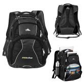 High Sierra Swerve Black Compu Backpack-UC San Diego Primary Mark