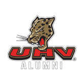 Alumni Decal-UHV Alumni, 6 inches wide