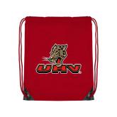 Red Drawstring Backpack-UHV Logo