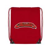 Red Drawstring Backpack-UHV Jaguars