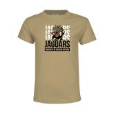 Youth Khaki Gold T Shirt-Jaguars Graphic