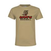 Youth Khaki Gold T Shirt-UHV Baseball