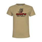 Youth Khaki Gold T Shirt-UHV Softball