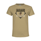 Youth Khaki Gold T Shirt-Jaguars Baseball