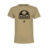Youth Khaki Gold T Shirt-Jaguars Soccer