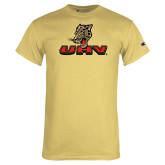 Champion Vegas Gold T Shirt-UHV Logo