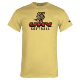 Champion Vegas Gold T Shirt-UHV Softball