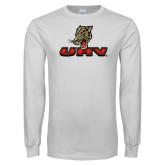 White Long Sleeve T Shirt-UHV Logo
